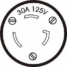 honda generator locking plug 30a 125v 3 prong style e at parker honda generator outlet 30 amp