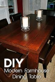 check out the tutorial on how to make a diy modern farmhouse table