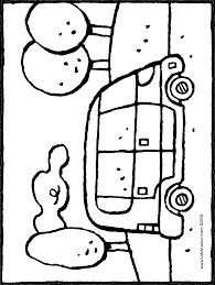 Auto In Landschap Kiddicolour