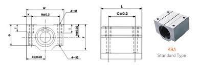 Kba Linear Bearing Pillow Block Isutami Bearings Manufacturer