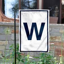 chicago cubs w garden flag