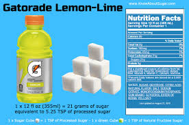 gatorade lemon lime sugar content how much sugar in gatorade how much sugar