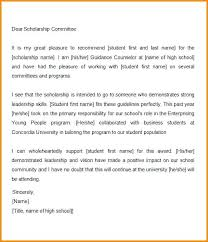 Letter Of Recommendation Student Examples Of Scholarship Letters Recommendation Appeal Letter For