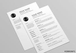 How To Layout Resume Classic Resume And Cover Letter Layout Buy This Stock Template And