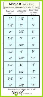 Magic 8 Half Square Triangle Chart Triangle Quilt Pattern