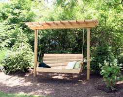 Simple Pergola impressive twin wooden pergola swing design with two post arbors 1101 by xevi.us