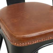 faux leather chair cushions leather chair pads chair design ideas
