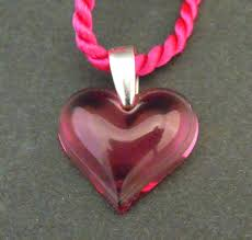 lalique small pink heart pendant 18c039a