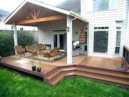 Backyard Deck Design Ideas Mesmerizing Back Patio Designs Silverweb