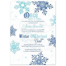 Snowflake Birthday Invitations Snowflake Snow Princess Onederland First Birthday Invitation