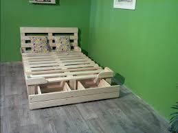 ... platform bed made out of pallets
