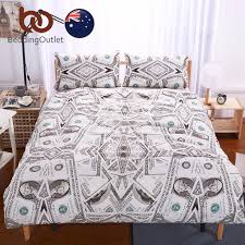 BeddingOutlet US Dollars Bedding Set Brown Money Duvet Cover with  Pillowcases Super Soft Quilt Cover Set AU Single Size Hot Sale-in Bedding  Sets from Home ...