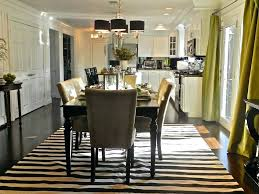 dining room table area rug size under