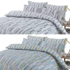 dreamscene ellipse duvet cover with pillow case bedding set geometric grey teal