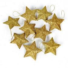Us 761 10 Off10 Teilelos Christbaumschmuck 9 Cm Gold Und Silber Klebrige Rosa Pailletten Weihnachten Fünf Punkte Sterne Weihnachten Anhänger In
