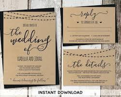 beautiful rustic wedding lights. Beautiful Rustic Wedding Invitations Templates Or Invitation Template Printable Set String Lights Calligraphy Paper