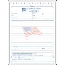 bid proposal forms contractor bid proposal forms business form printing designsnprint