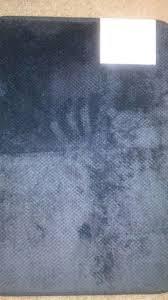 mohawk home black 17x24 memory foam bath rug set of 2 new