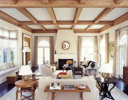 Wooden Ceiling Designs For Living Room Decoration Modern Chalet With Wood Beam And Ceiling For Interior