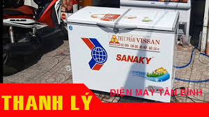 Thanh lý Tủ đông cũ sanaky 400 lít dàn đồng: Hải sản, xúc xích, chả giò,  giò lụa - YouTube