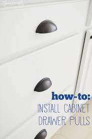 cup drawer pulls. How-to: Install Cabinet Drawer Pulls Cup