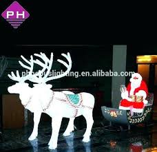 outdoor led reindeer and sleigh designs santa