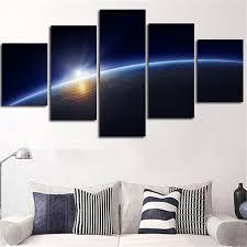 <b>5 Pieces HD</b> Print Home Decor Canvas Paintings Frame Living ...