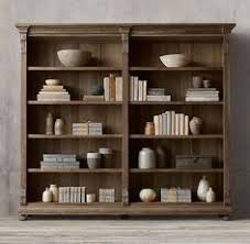 restoration hardware home office. rhu0027s st james panel double shelvingevoking the architectural classicism of turnof home office storagegreen streetopen shelvingrestoration hardwarehome restoration hardware o
