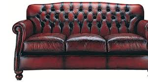 traditional leather sofa and