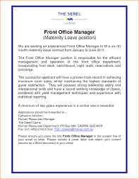 Gallery Of Front Office Manager Cover Letter