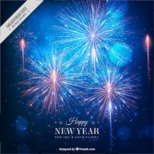 New Year Backgrounds Fantastic New Year Background With Bright Fireworks Vector Free