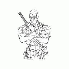 Deadpool Kleurplaten Leuk Voor Kids