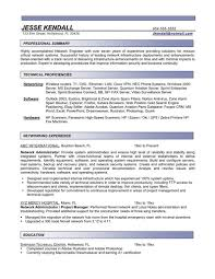 network administrator resumes free resume templates