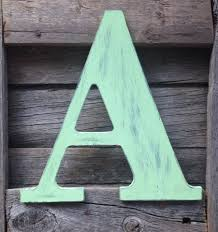 decorating with wooden letters painted monogram letters