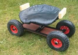 garden seat on wheels. Wheeled Garden Stool Seat With Wheels Ebay Outdoor Rolling On B