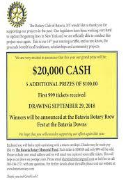 Cash Raffles Batavia Rotary Raffles Events