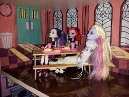 high school lunch table. Close Up Of Creepeteria With Lunch Table From Monster High School Playset E