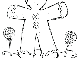 Gingerbread Pictures To Color Gingerbread Coloring Sheets