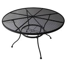 garden treasures davenport 48 in w x 48 in l round steel dining table