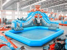 inflatable above ground pool slide. Water Parkinflatable Above Ground Pools. Large Inflatable Swimming Pool With Slide