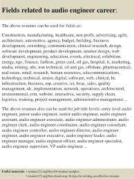 Audio Engineer Sample Resume Adorable Top 48 Audio Engineer Resume Samples
