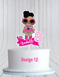 Personalised Lol Surprise Birthday Cake Topper Cupcake Toppers Cake