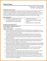 Master Of Science Resume Examples Mechanic Sample Electrician