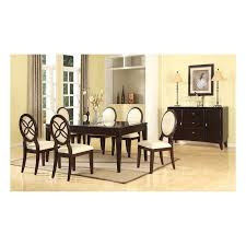 vandegriff brown and ivory modern dining set