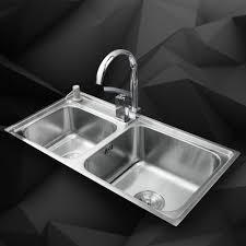 Kemaidi Kitchen Stainless Steel Sink Vessel Kitchen Double Bowl