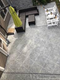 create faux tile look on concrete patio