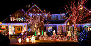 unique christmas lighting. unique christmas village houses display lighting s