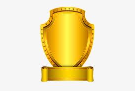 gold shield badge vector png image