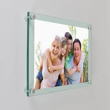 wall mounting tinted green edge frames