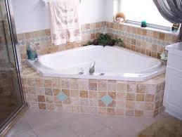 garden tub tile pictures travertine glass tile luxurious garden bathtub
